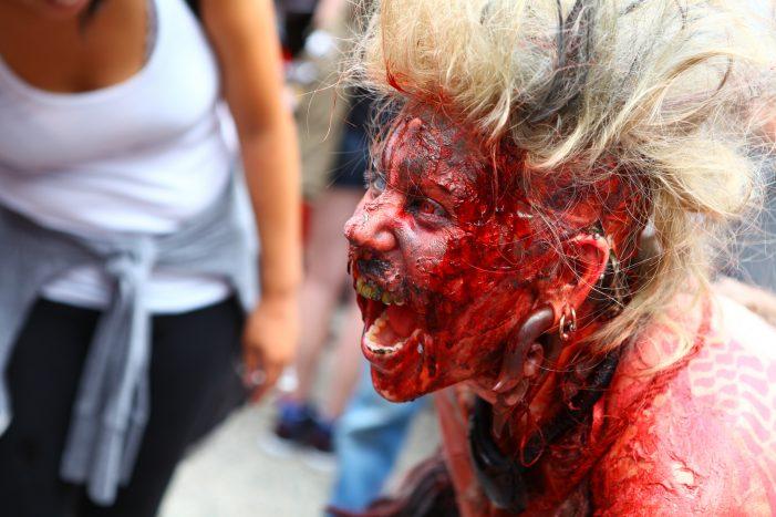 Суперский зомби макияж - фото