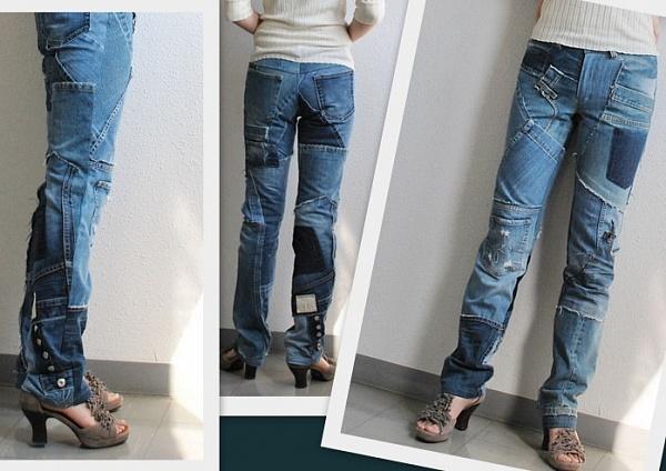 Как сделать старые джинсы модными