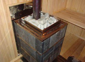 Как расположить печь в бане