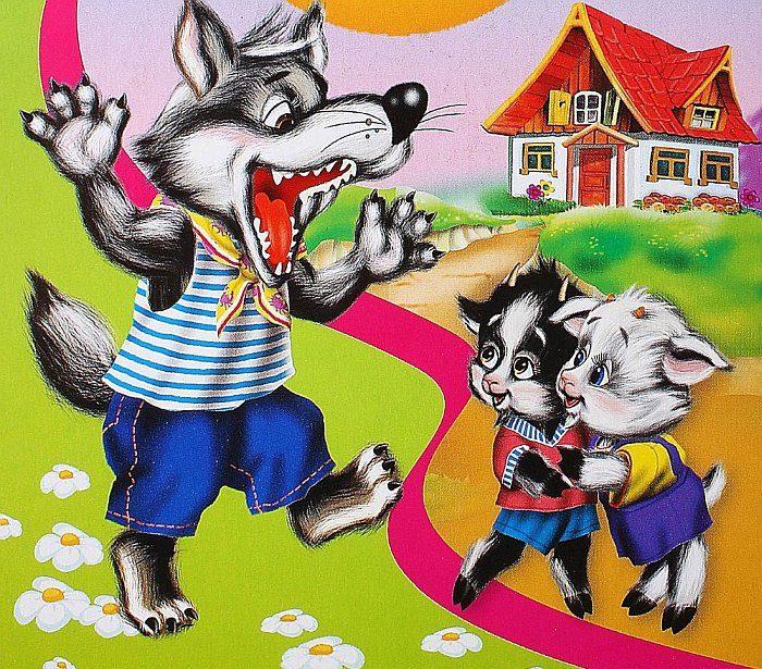 анимационные картинки волк и семеро козлят приготовить бисквитный корж