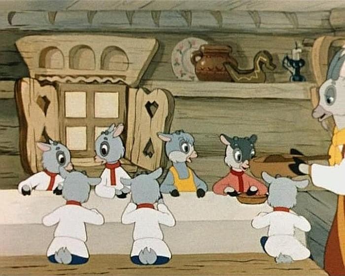 Мультфильмы Волк и семеро козлят