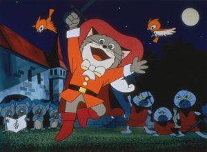 Японские мультфильмы Кот в сапогах