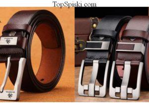 Недорогие кожаные мужские ремни с Алиэкспресс