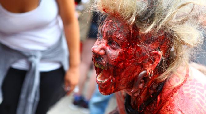 Суперский зомби макияж — фото