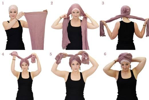 Как завязать чалму на голове