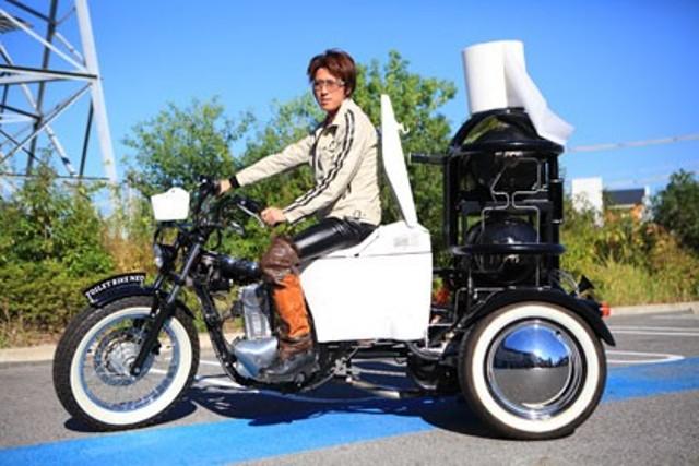 Японцы продемонстрировали навозный мотоцикл