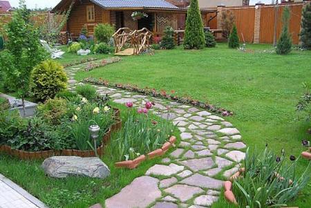Как сделать дорожки и площадки в саду