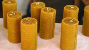Как сделать свечи из вощины