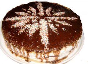 Торт с орехами «Снежинка»
