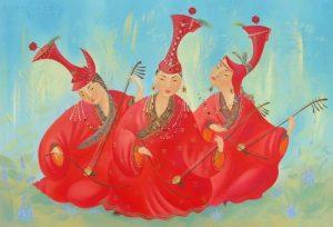 Азиатские толстушки в картинах Галины Котиновой
