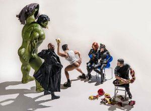 Смешные фото игрушечных супергероев
